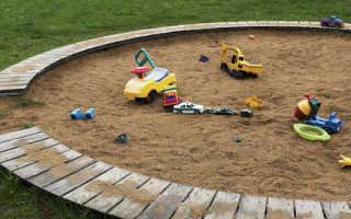 Детская песочница на дачном участке: идеи и фото