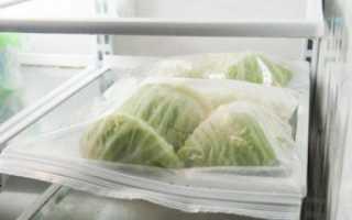 Можно ли заморозить свежую капусту в морозилке на зиму (кочаны, листья, нашинкованные), сколько можно хранить этот овощ?